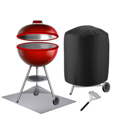 barbeque equipment and accessories set vector image