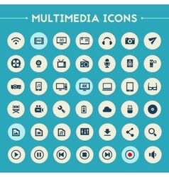 Big multimedia icon set vector