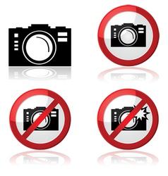 Camera signs vector