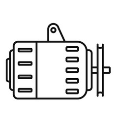 car alternator icon outline style vector image