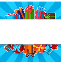 Celebration background with gift boxes vector