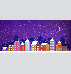 city landscape christmas vector image