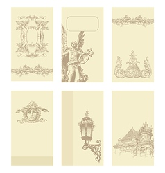Classical vintage old frame card design vector