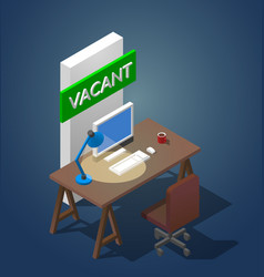 Concept of a vacant workplace vector