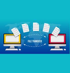 Creative transfer files vector
