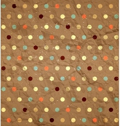 Crumpled polka dot pattern vector image