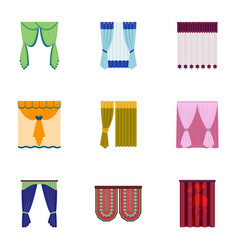 curtains cornice lath and other web icon in vector image