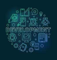 Development round modern colored linear vector