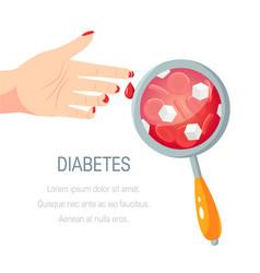 Diabetes concept in flat style design vector