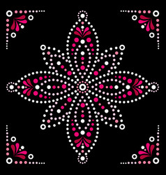 dot art flower traditional aboriginal art vector image