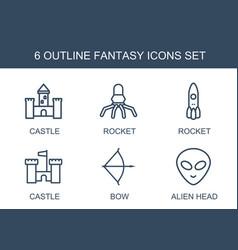 Fantasy icons vector