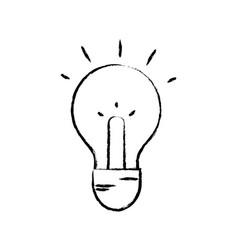 Figure light bulb idea to intelligent and creative vector