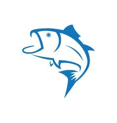 Fish logo template vector