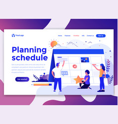 flat modern design of wesite template - planning vector image