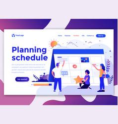 flat modern design wesite template - planning vector image