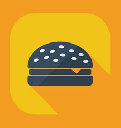 Flat modern design with shadow icons hamburger vector