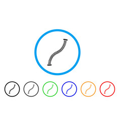 flexible pipe rounded icon vector image
