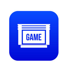 Game cartridge icon digital blue vector