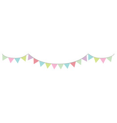 garland in pastel colors triangular vector image