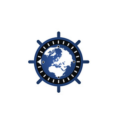 global cyber security vector image
