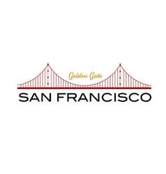 Golden Gate bridge of San Francisco vector