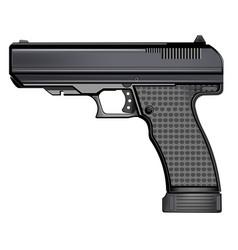 gun pistol isolated on white background vector image