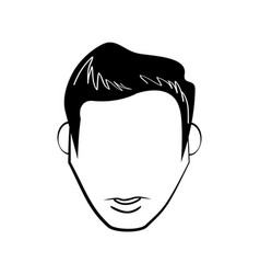 head people faceless line vector image