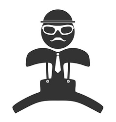 Hipster man jumping icon Isolated on white vector