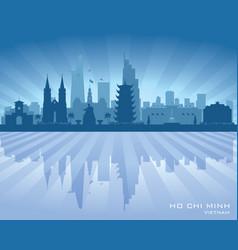 Ho chi minh city vietnam skyline silhouette vector