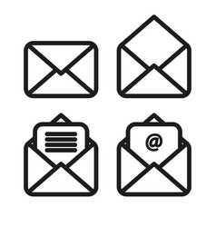 icon envelope simple linear vector image