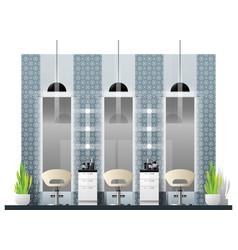 interior scene of modern beauty salon vector image