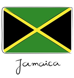 Jamaica flag doodle vector