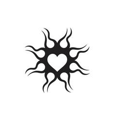 Love grunge design logo vector