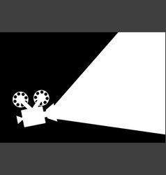 movie projector black and white flat design vector image