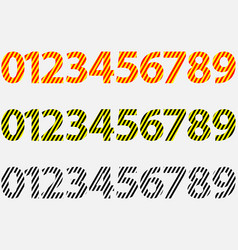 numbers 0123456789 - set vector image