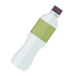 plastic bottle water icon for fitness in flat vector image