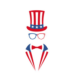 portrait of man in glasses tuxedo vector image