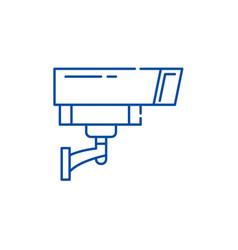 security camera line icon concept security camera vector image