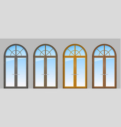 Set of classic arched doors vector