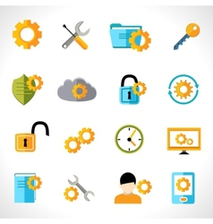 Settings icons flat vector image