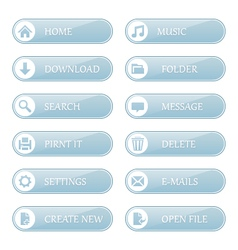 Shiny buttons with icons vector image
