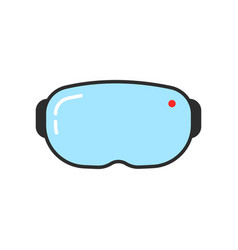 simple vr glasses icon vector image