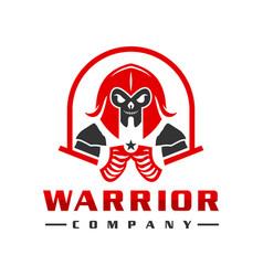 sparkling warrior peoples logo design vector image