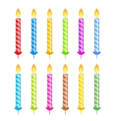 Striped Birthday Candles vector image
