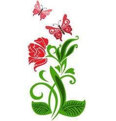 Stylized rose vector image
