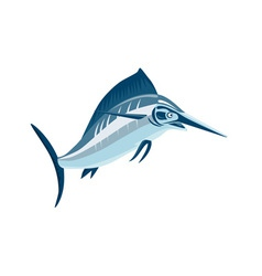 Swordfish jumping vector