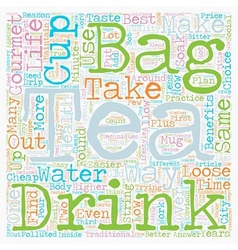 Take the Tea Bag Out text background wordcloud vector image