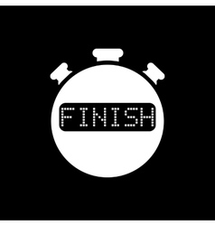 The finish stopwatch icon Clock and watch timer vector