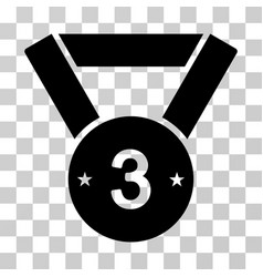 Third medal icon vector