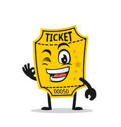 Ticket mascot or character vector